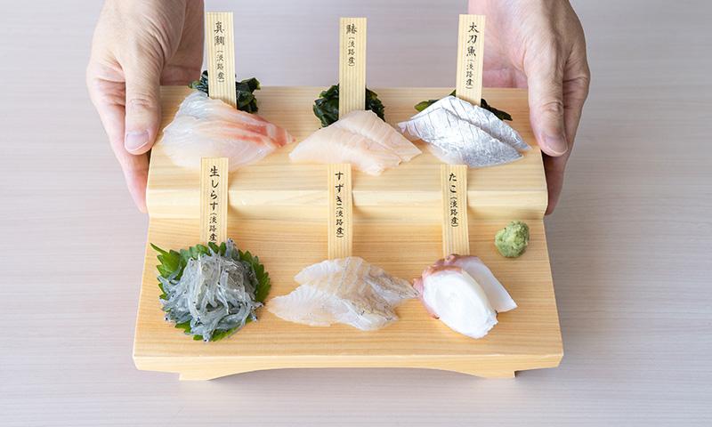 白い海鮮丼